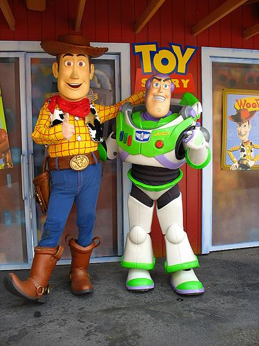 Buzz and Woody by disneylori, via Flickr