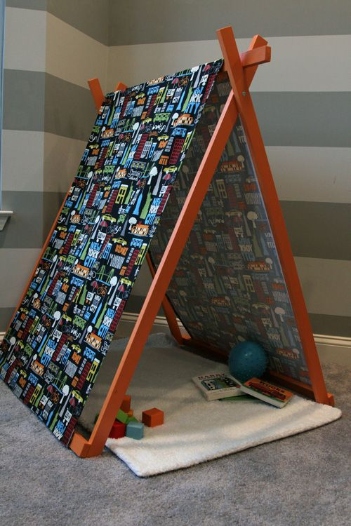 DIY Play Tent--- have been looking for some ideas for my classroom for this! | to do | Pinterest | Tents Plays and Playrooms : play tent pattern - memphite.com