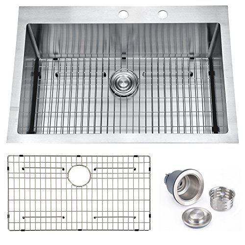 Billion 33 X22 X10 Inch Drop In Overmount 16 Gauge Handm Https Www Amazon Com Dp B06xjdz5b3 Ref C Drop In Kitchen Sink Sink Grid Undermount Kitchen Sinks
