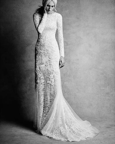 White By Vera Wang Lace And Beads Wedding Dress Style VW351291
