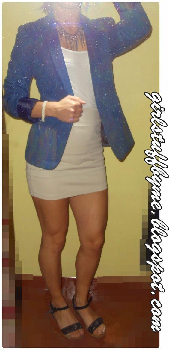 #mystyle #clothes #blazerazul #saiacurta