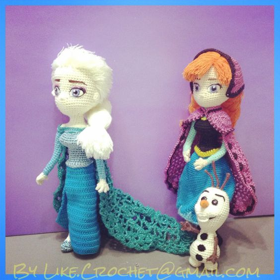 Crochet Elsa Amigurumi : Frozen disney, Elsa anna and Olaf on Pinterest