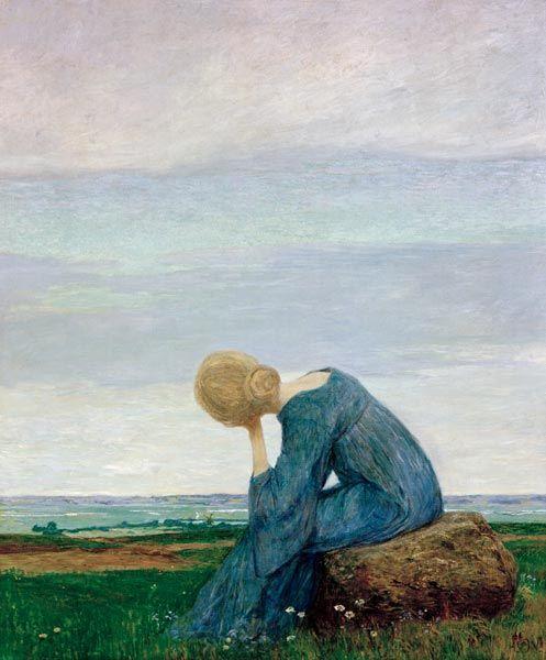Heinrich Vogeler Leinwandbild Sehnsucht