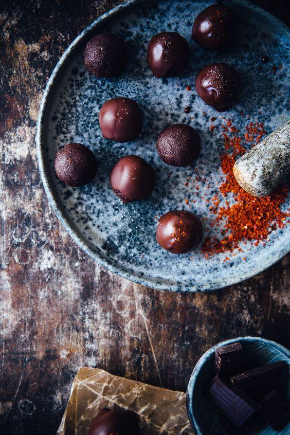 Chocolate Covered Raw Fudge with Chili | Cashew Kitchen: