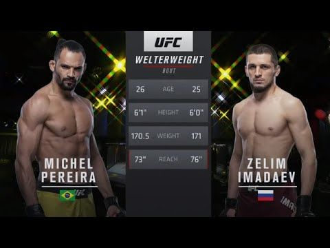 Michel Pereira Vs Zelim Imadaev Fullfight Highlights Ufc Vegas 9 The Real Life Break Dancing Fighter Man He Slapped The In 2020 Ufc Ufc Fight Night Highlights