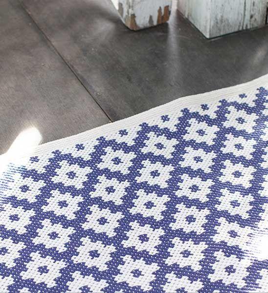 Dash & Albert Outdoor Teppich Samode blau
