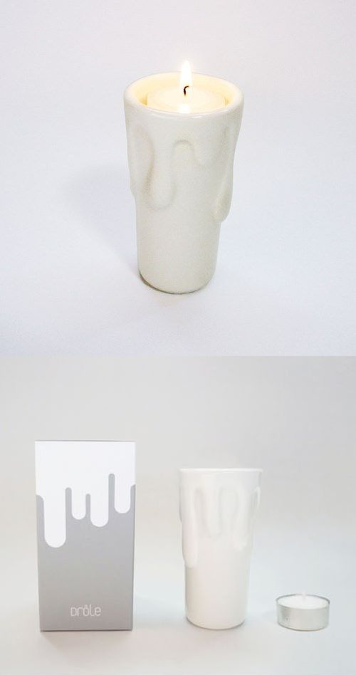 The Candle in Candle Stand comes with 1 candle stand and 1 tea light candle per purchase. The candle stand is made to look like a large melting candle. It is designed to keep that waxy melting look of a candle without all the mess!The tea light will fit right on the inside of the candle. A great addition to your home and give it out as a gift!