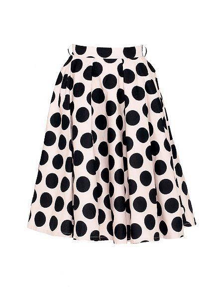 Full Circle Polka Dot Skirt