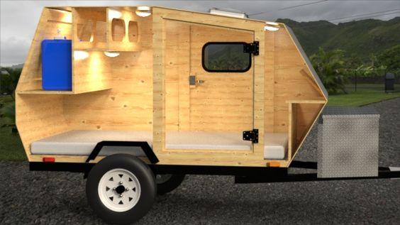 Model Teardrop Trailer Plans Harbor Freight A Wooden Sided Teardrop Camper