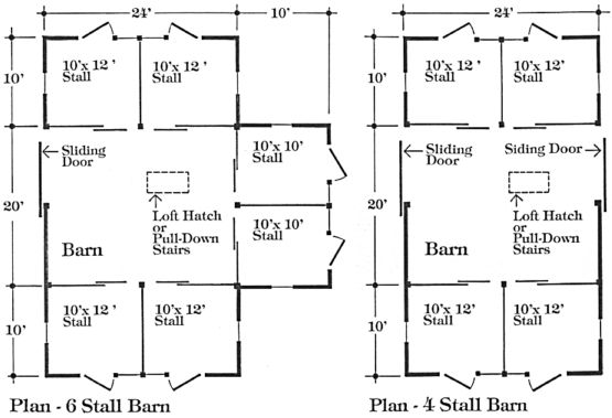 Barn plans horse barn plans and horse barns on pinterest for 4 stall horse barn plans