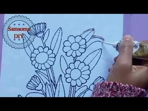 دورة تعلم الرسم على الزجاج كيفية تحديد الرسمة على الزجاج الريليف Glass Painting Youtube Black Women Art Crafty Female Art