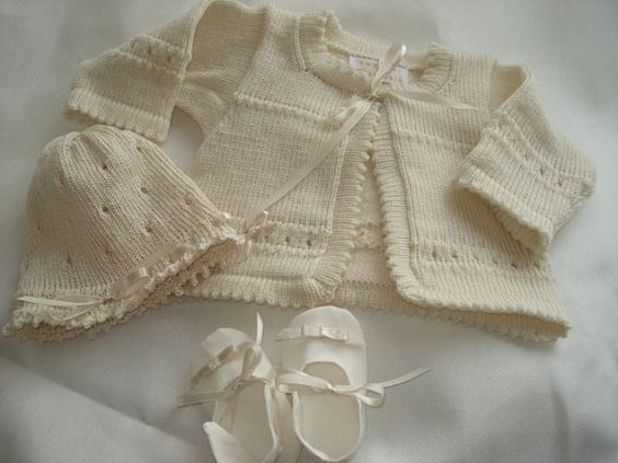christening dress creme by babypullover on Etsy