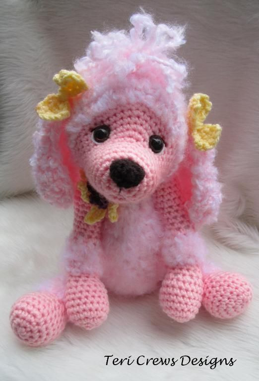 Cute Poodle Crochet Pattern by Teri Crew pattern on Craftsy.com.