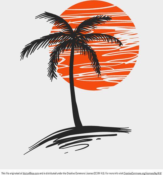 Palm Tree Free Vector In Adobe Illustrator Ai Ai Vector