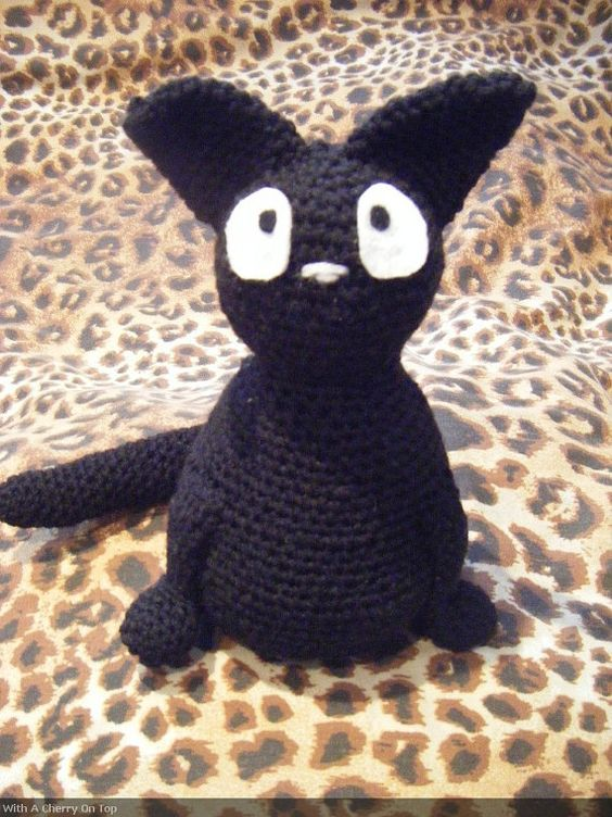 Jiji plush amigurumi inspired by the black kitty cat from ...