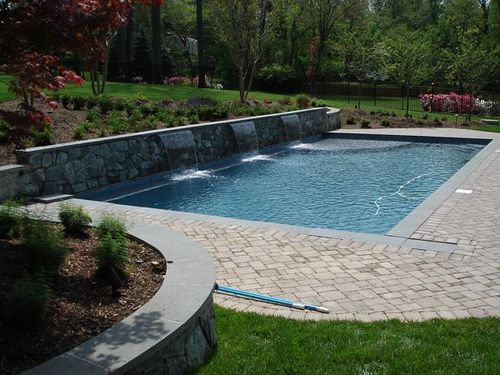 Backyard Swimming Pool Landscape. This Might Work :)