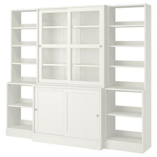 Havsta Storage With Sliding Glass Doors Gray 95 1 4x18 1 2x83 1
