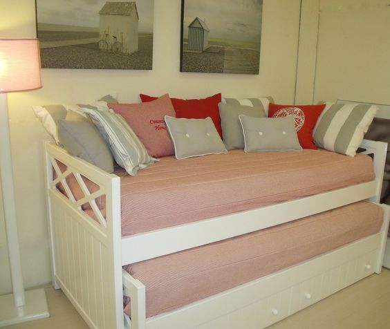 Cama doble ideas de decoraci n pinterest for Habitacion infantil cama nido