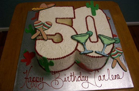number 50 shaped birthday cake theme number cakes cakes cupcakes ...