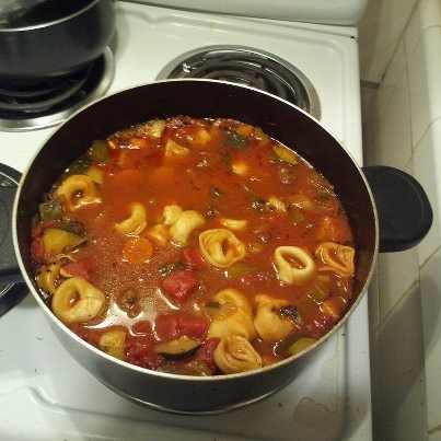 Hearty Italian Tortelli Soup    This is one of the best things I have made from Pinterest1