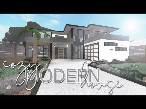 Roblox Bloxburg Cozy Modern House 118k Youtube Modern