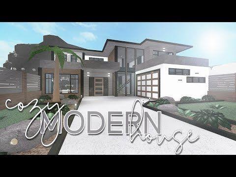 Roblox Bloxburg Cozy Modern House 118k Youtube Modern House