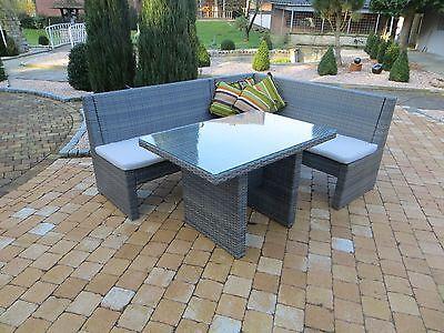 Poly Rattan Lounge Set Garnitur Sitzgruppe Gartnemöbel Garnitur ...