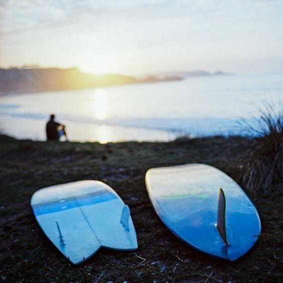 blue surfboards