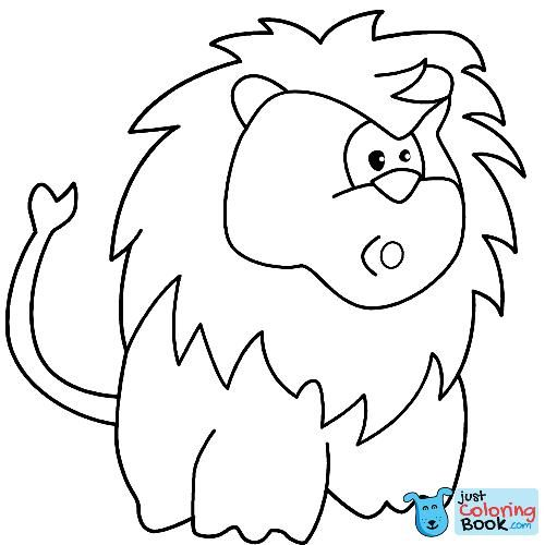 Surprised Cartoon Lion Coloring Page Free Printable Regarding Free Printable Surprised Cartoon Lion Coloring Pages Download More Free Printable Hd Images For