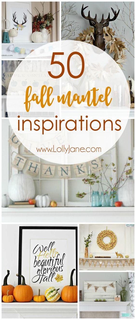 50 fall mantel Ideas
