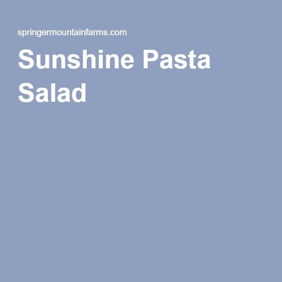 Sunshine Pasta Salad