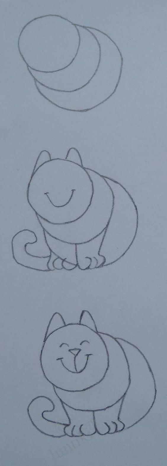 Bekijk de foto van Ploink met als titel hoe simpel kan je een kat tekenen en andere inspirerende plaatjes op Welke.nl.