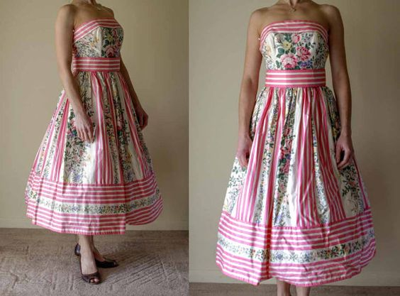 1950s style Victor Costa Cocktail dress