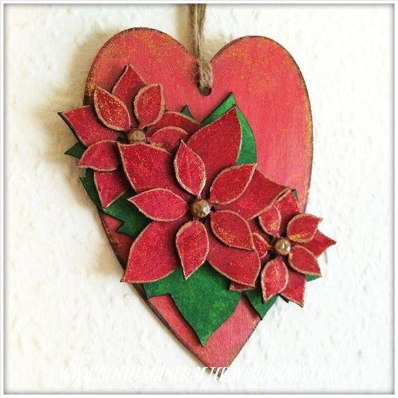 Heart by John Bloodworth (Gentleman Crafter) using Designs by Georgina Poinsettia Heart kit. More details - https://gentlemancrafter.wordpress.com/2015/11/17/christmas-is-coming/