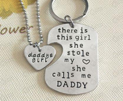 Father Daughter interlocking pendants: