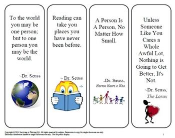Bookmarks for the Classroom - Inspirational Quotes | Student, The ...