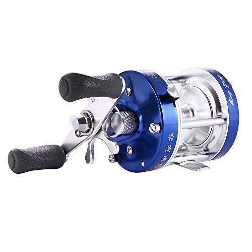 Isafish Bait Casting Fishing Reel Blue Left Hand Baitcaster Reel