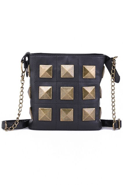 Rivets Embellished Handbag  $43.30  #romwe  romwe.com