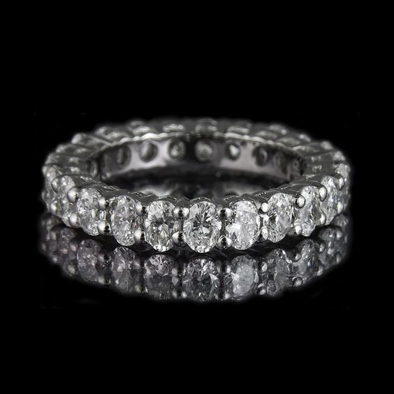Oval Diamond Eternity ring.....eternity ring cause that's how long it will be before I get one.....ha ha ha