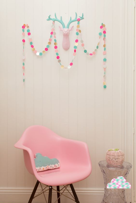 Modern Girls Bedroom: Petite Vintage Interiors Children's