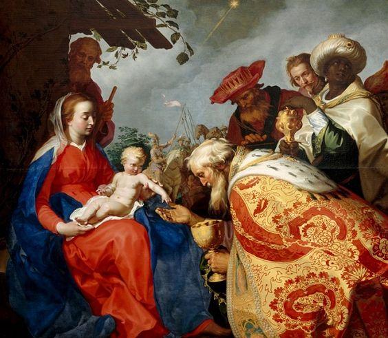 Abraham Bloemaert (1564-165): Adoración de los Magos.