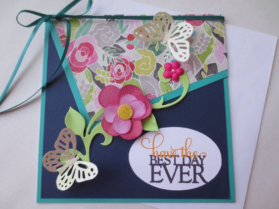 CardHandmade 3D Happy Birthday CardCongratulation Butterfly