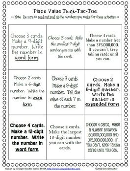 math worksheet : place value tic tac toe  classroom doodads  pinterest  place  : Tic Tac Toe Math Worksheets