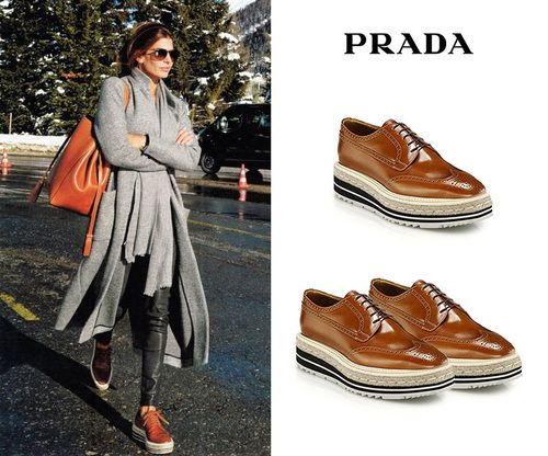 Juliana Awada Davos Prada Shoes