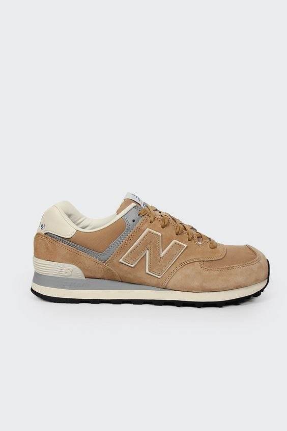 new balance suede 574 tan/cream