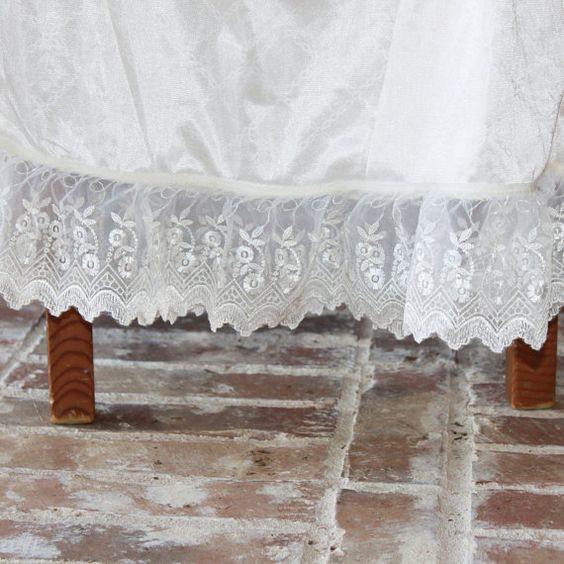 Slip Extender: Cream/ Ivory Embroidered Lace by aSlipShop on Etsy