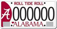 The University of Alabama Collegiate License Tag