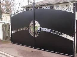 R sultat de recherche d 39 images pour portail design fer forge - Faire son portail en fer ...