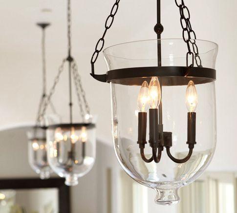 pottery barn lanterns and pottery on pinterest bell jar lighting fixtures