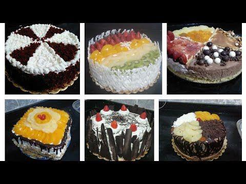 طرق تزيين الكيك بشكل غير احترافى وبألإمكانيات المتاحة يعنى للمبتدئين Youtube Desserts Food Breakfast